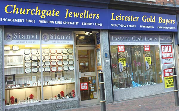 churchgate jewellers shop front