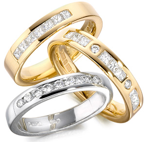 gold eternity rings