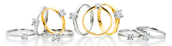 silver gold diamond engagement rings